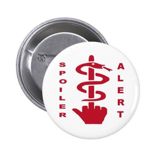 Alarma del alerón pin redondo 5 cm