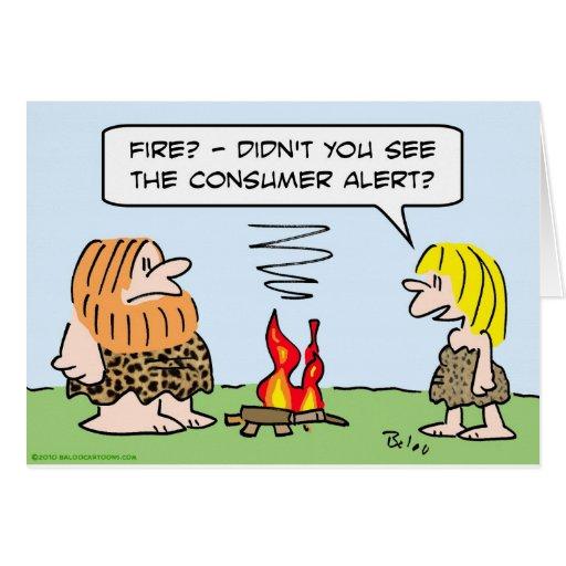 alarma del consumidor del fuego del hombre de las  tarjeta de felicitación