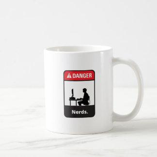 Alarma del empollón del peligro tazas