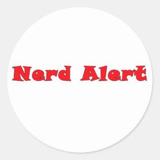 Alarma del empollón etiquetas redondas
