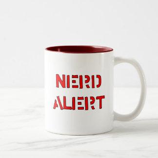 Alarma del empollón taza