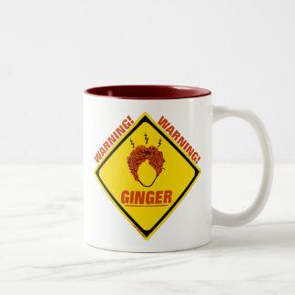 ¡Alarma del jengibre! Taza De Café De Dos Colores