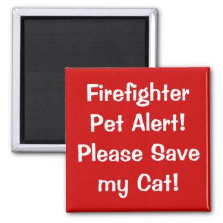 ¡Alarma del mascota del bombero! Imán Cuadrado