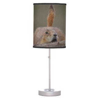 alarma del perro de las praderas lámpara de mesa