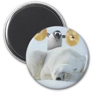 Alarma del pingüino imán redondo 5 cm