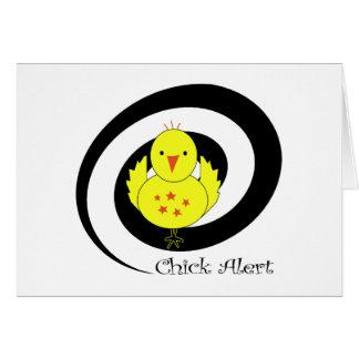 Alarma del polluelo tarjeta de felicitación