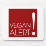 Alarma del vegano tapete de ratón