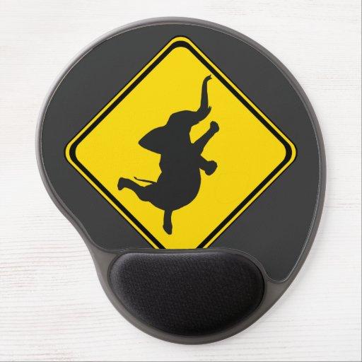 Alarma: ¡Elefante Xing del baile! Alfombrillas De Raton Con Gel