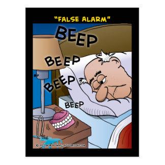 """Alarma falsa "" Tarjeta Postal"