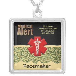 Alarma médica de encargo colgante cuadrado