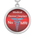 Alarma médica -- Ningún implante médico de MRI Collar Personalizado