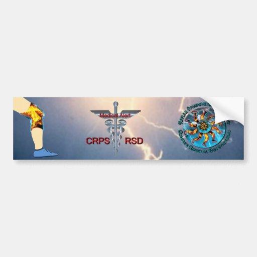 Alarma médica y relámpago Asclepius Caduc de CRPS  Pegatina De Parachoque