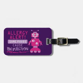 Alarma múltiple adaptable del robot de la alergia etiquetas maleta
