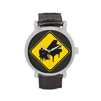 Alarma: ¡Pianista a continuación! Relojes De Mano