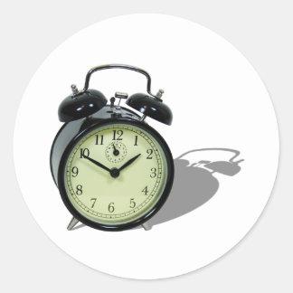 AlarmClock041109shadows Pegatina Redonda
