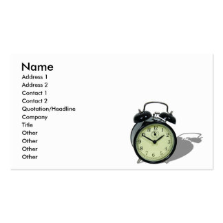 AlarmClockCard, Name, Address 1, Address 2, Con... Double-Sided Standard Business Cards (Pack Of 100)