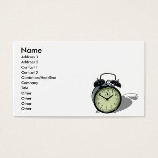 AlarmClockCard, Name, Address 1, Address 2, Con... Business Card