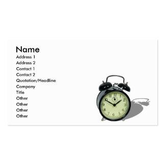 AlarmClockCard, Name, Address 1, Address 2, Con... Business Card Template