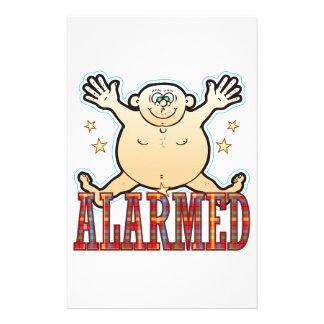 Alarmed Fat Man Stationery