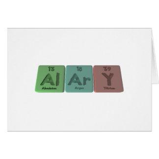 Alary-Al-Ar-Y-Aluminium-Argon-Yttrium Card