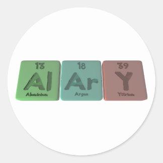 Alary-Al-Ar-Y-Aluminium-Argon-Yttrium Classic Round Sticker