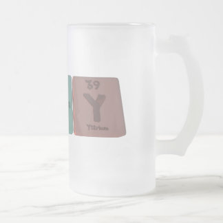 Alary-Al-Ar-Y-Aluminium-Argon-Yttrium Frosted Glass Beer Mug