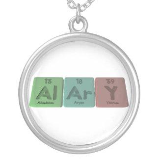 Alary-Al-Ar-Y-Aluminium-Argon-Yttrium Round Pendant Necklace
