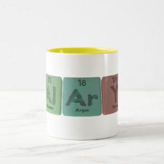 Alary-Al-Ar-Y-Aluminium-Argon-Yttrium Two-Tone Coffee Mug