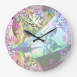 Alas abstractas del fractal del cristal de la amat reloj