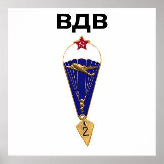 Alas aerotransportadas rusas soviéticas póster