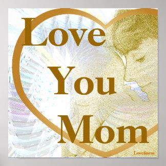 Alas angelicales maternales que deslumbran el amor posters
