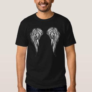 Alas blancos y negros frescas del ángel remeras