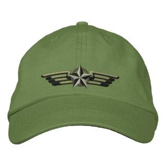 Alas bordadas aviación del piloto de la insignia gorra de beisbol bordada