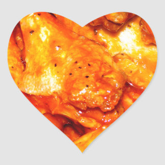 Alas calientes picantes pegatina en forma de corazón