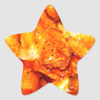 Alas calientes picantes pegatina en forma de estrella