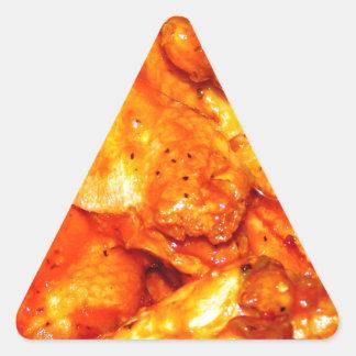 Alas calientes picantes pegatina triangular