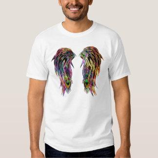 Alas coloridas frescas del ángel de la pluma del remeras