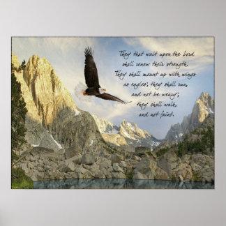 Alas como 40:31 de Eagles Isaías Póster