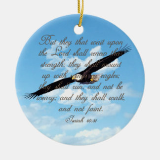 Alas como Eagles, biblia del cristiano del 40:31 d Adorno