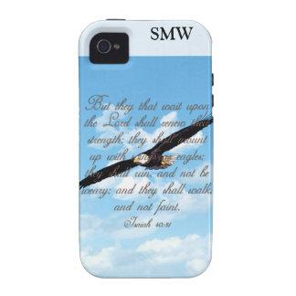 Alas como Eagles, biblia del cristiano del 40:31 d iPhone 4/4S Carcasas