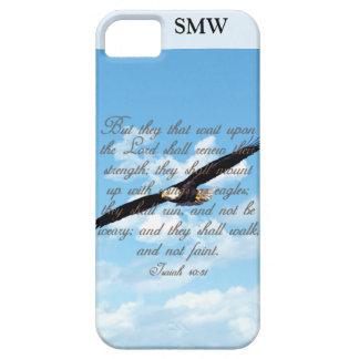 Alas como Eagles, biblia del cristiano del 40:31 d iPhone 5 Cárcasas