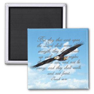 Alas como Eagles, biblia del cristiano del 40:31 d Iman De Frigorífico