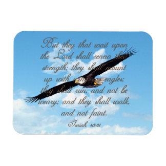Alas como Eagles, biblia del cristiano del 40:31 d Imanes Flexibles