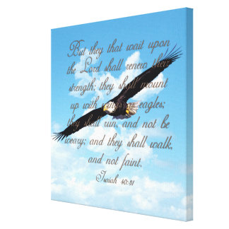 Alas como Eagles, biblia del cristiano del 40:31 d Lona Envuelta Para Galerias