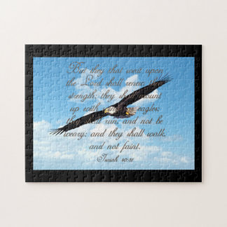 Alas como Eagles, biblia del cristiano del 40:31 Puzzles Con Fotos