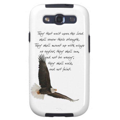 Alas como Eagles Isaías 4o: 31 Samsung Galaxy SIII Funda