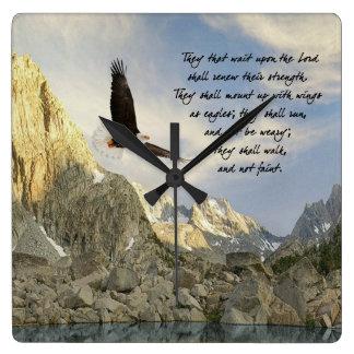 Alas como Eagles Isaías 4o: 31 Relojes De Pared