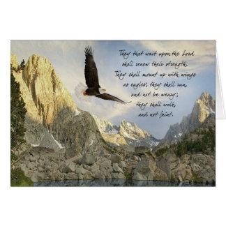 Alas como Eagles Isaías 4o: 31 Tarjetón