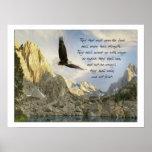 Alas como Eagles Isaías 4o Posters