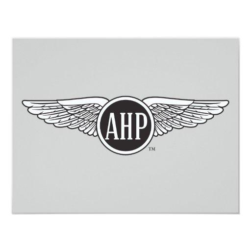 """Alas de AHP - B&W Invitación 4.25"""" X 5.5"""""""